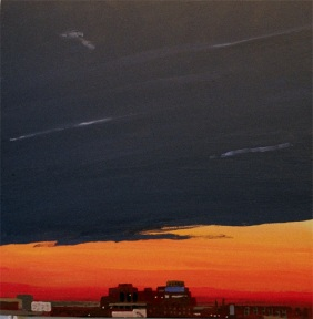 Long View, Cloud Blanket, 12 x 12 inches, acrylic on panel, 2009